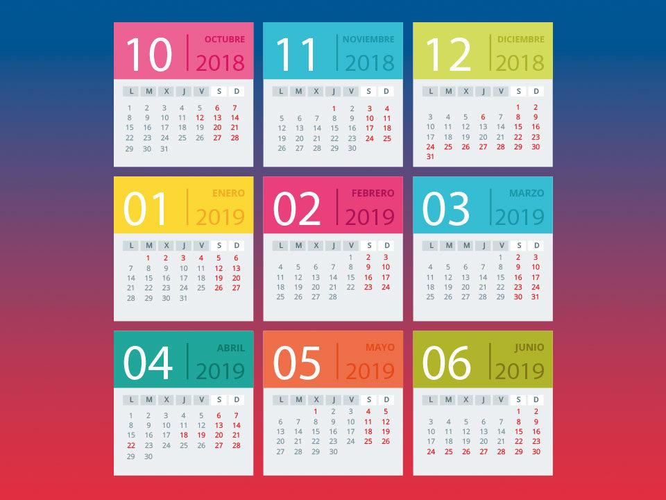 Calendario cursos de idiomas 2018/19