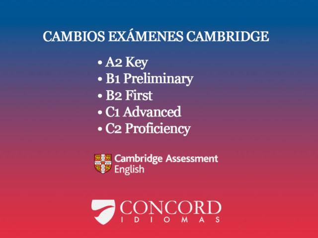 Cambios exámenes de Cambridge English